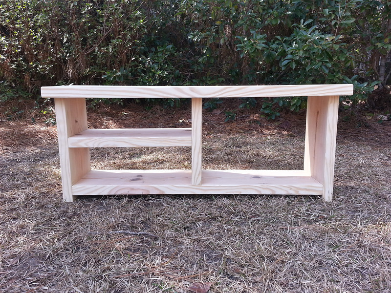 Coastal Oak Designs Farmhouse Bench With Shoe And Boot Storage