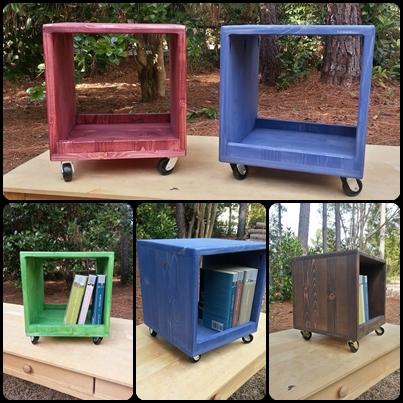 Coastal Oak Designs Cute Rolling Storage Cubby Cube