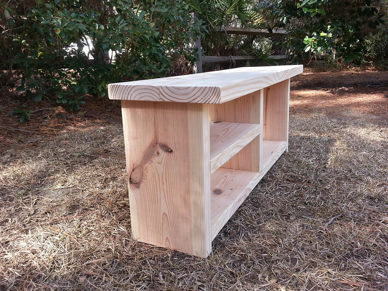 Coastal Oak Designs Farmhouse Bench With Shoe And Boot
