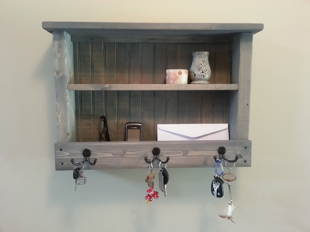 Rustic Hanging Mail And Key Organizer for your entryway, hallway